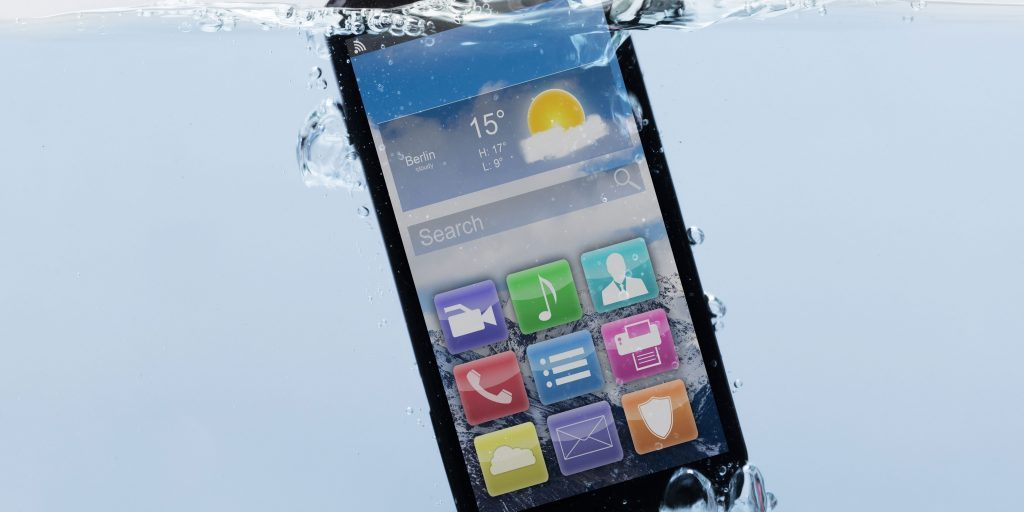 Image of IPX7 cell smart phone protected by PCB Waterproofing