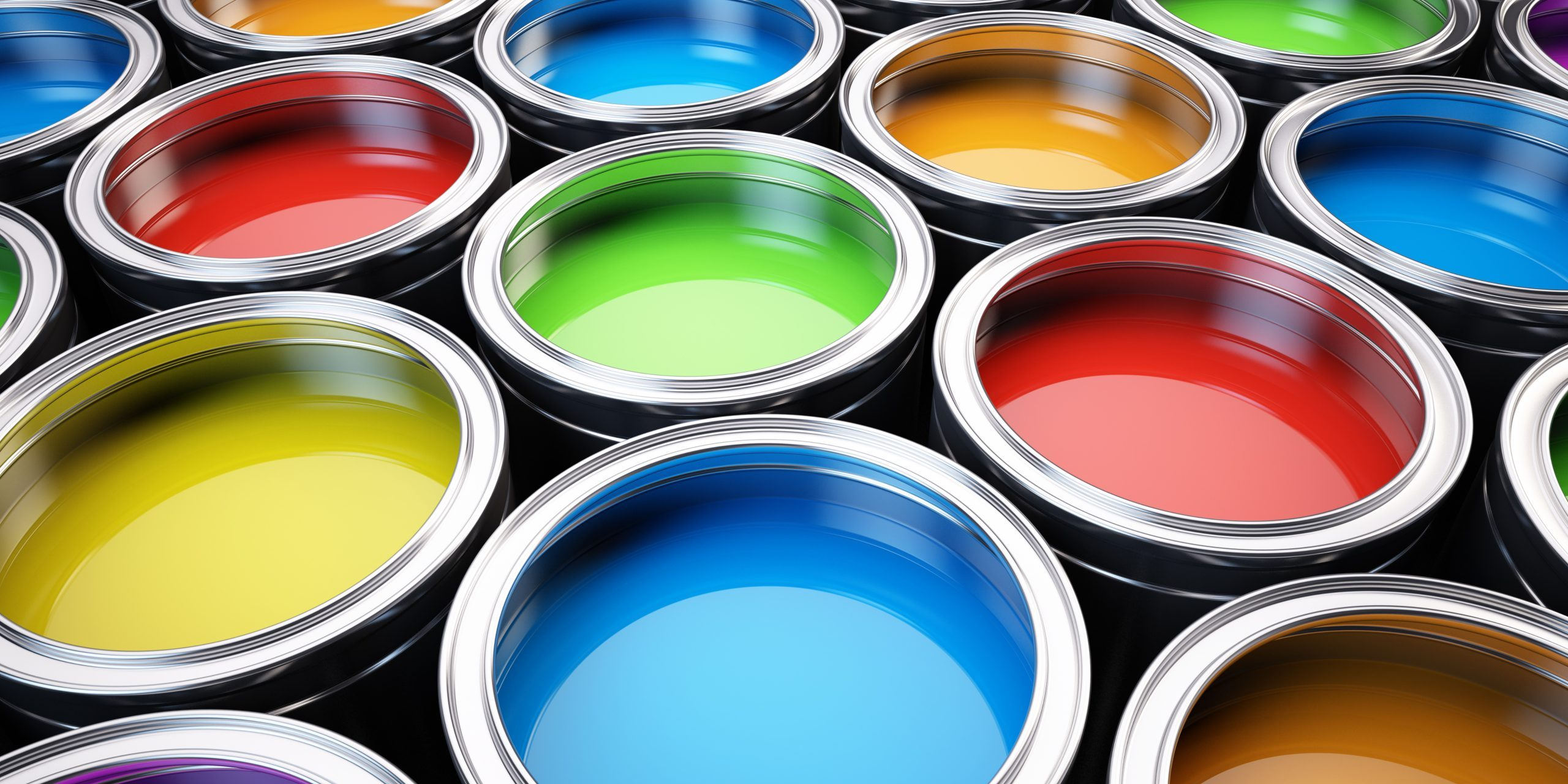 Image of paints and coatings which can benefit from surfaces which have had adhesion promoting treatments applied.